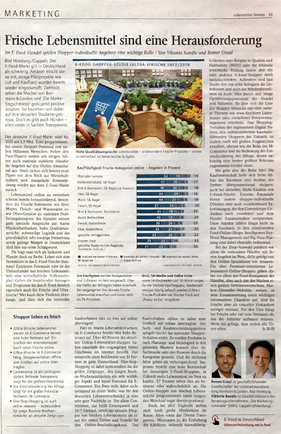 Pressebericht-Lebensmittelzeitung-eFood-Studie-diemarketingschmiede