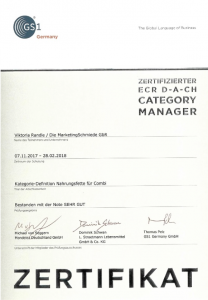 Zertifikat_Viktoria Randle_ECR D-A-CH Category Managerin